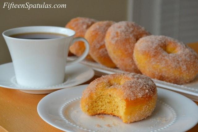 Cinnamon Sugar Tossed Sweet Potato Doughnuts Fifteen