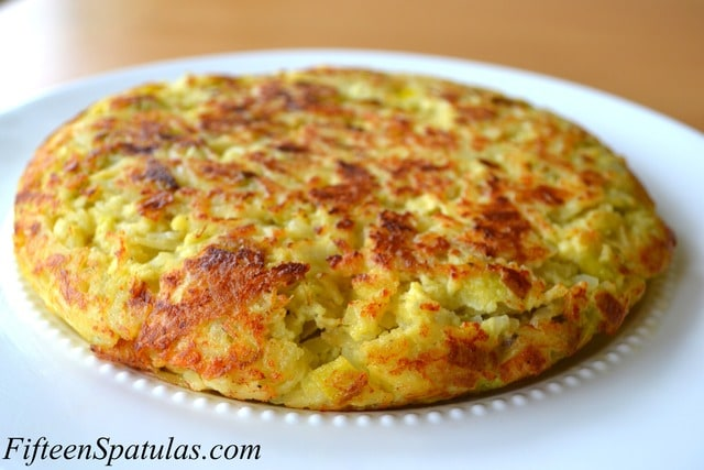 Leek Manchego Spanish Tortilla – Fifteen Spatulas