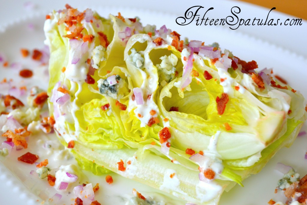 Iceberg Wedge with Crumbled Bacon and Gorgonzola from Fifteen Spatulas