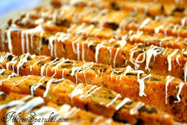 ... Chocolate Drizzled Cranberry Pistachio Biscotti » Fifteen Spatulas