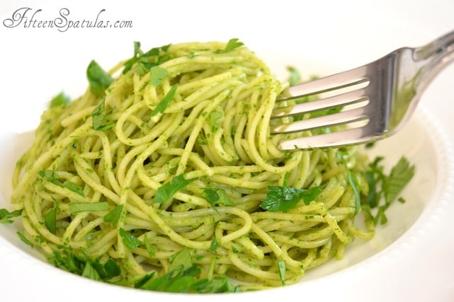 Spaghetti With Green Garlic Recipe — Dishmaps