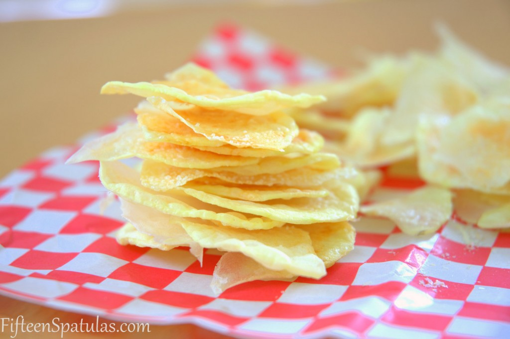Oil Free Potato Chips @fifteenspatulas