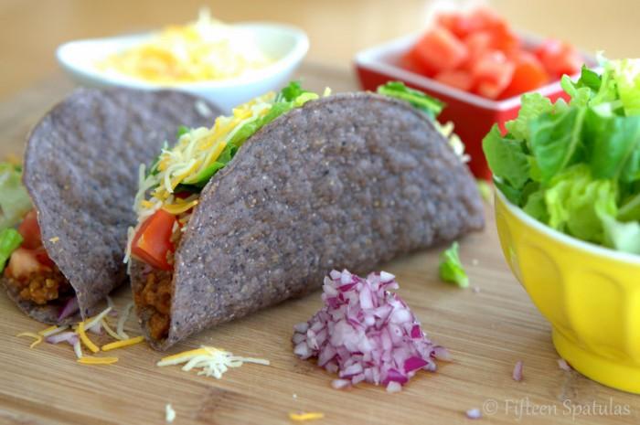 Ground Beef Tacos @fifteenspatulas