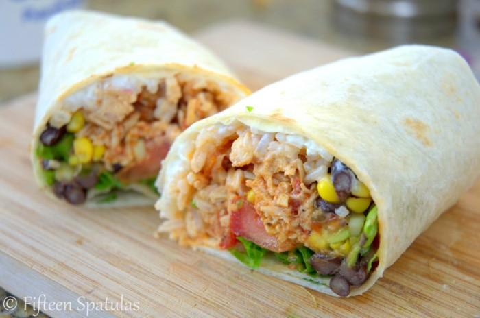 Shredded Mexican Chicken Burritos