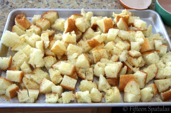 Brioche Leek Bread Pudding