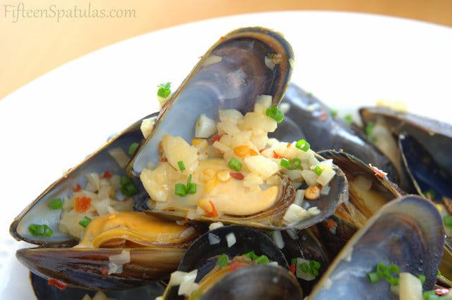 White Wine Mussels with Piquillo Rouille Slathered Bread ...