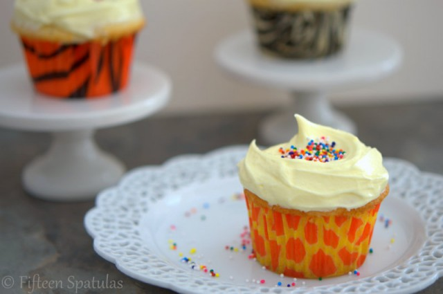 Vanilla Cupcakes with French Buttercream