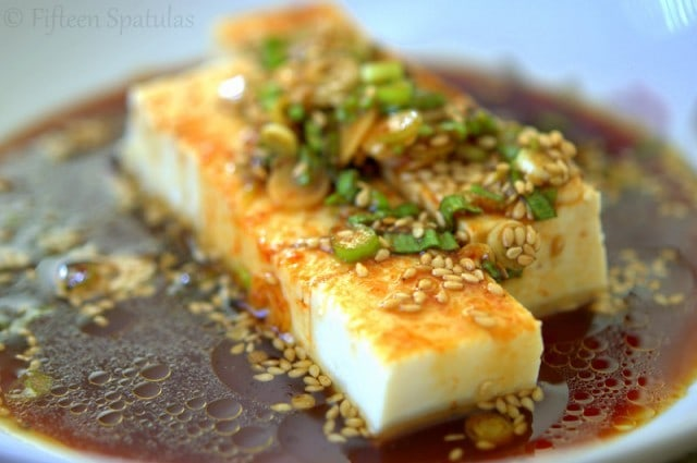 Tofu with Soy Sauce and Sesame Oil
